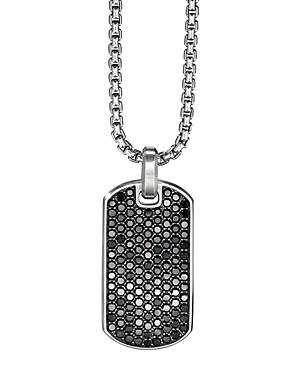 David Yurman Streamline Tag Pendant with Pave Black Diamonds