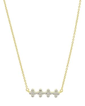 Freida Rothman Clover Bar Pendant Necklace, 16