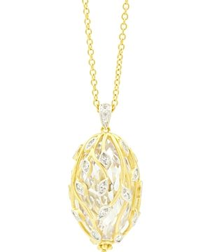 Freida Rothman Fleur Bloom Cluster Pendant Necklace, 24