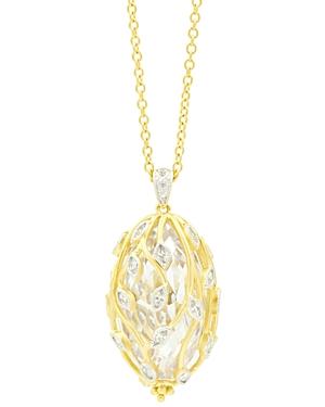 Freida Rothman Fleur Bloom Cluster Pendant Necklace, 24