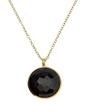 Ippolita 18K Yellow Gold Lollipop Onyx Medium Pendant Necklace, 18