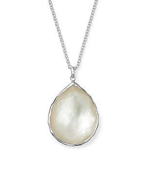 Ippolita Sterling Silver Wonderland Large Teardrop Pendant Necklace In Mother-of-Pearl, 16
