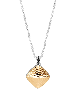 John Hardy 18K Yellow Gold & Sterling Silver Classic Chain Sugarloaf Pendant Necklace, 18