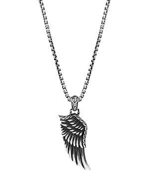 John Hardy Sterling Silver Legends Eagle Large Wing Pendant Necklace, 24
