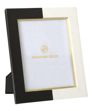 "Jonathan Adler - Canaan Marble Photo Frame - Black/White - 8x10"""