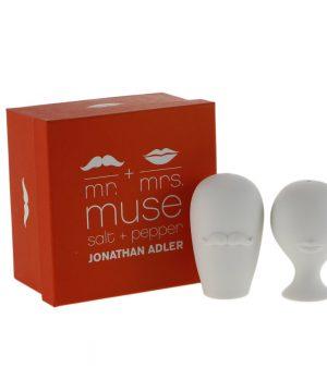 Jonathan Adler - Muse Salt & Pepper Shakers - Mr & Mrs