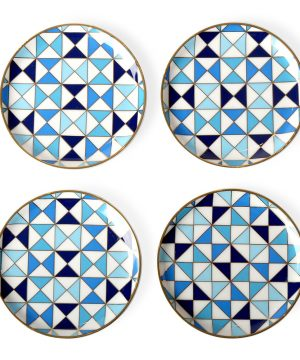 Jonathan Adler - Sorrento Coasters - Set of 4 - Blue