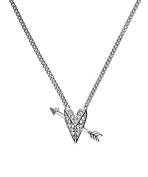 Karl Lagerfeld Paris Hearts & Arrows Small Pendant Necklace, 16