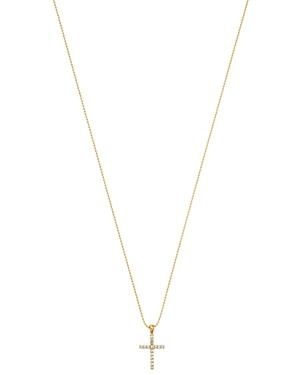 Kc Designs 14K Yellow Gold Diamond Cross Pendant Necklace, 18