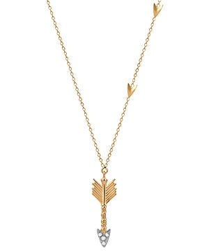 Kismet by Milka 14K Rose Gold Diamond Arrow Pendant Necklace, 18