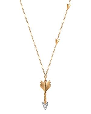 Kismet by Milka 14K Rose Gold Diamond Arrow Pendant Necklace, 18
