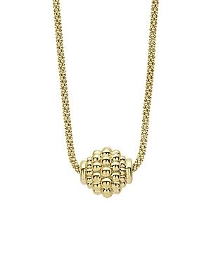 Lagos 18K Yellow Gold Caviar Gold Caviar Ball Pendant Necklace, 16