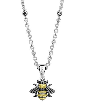 Lagos 18K Yellow Gold & Sterling Silver Rare Wonders Honeybee Pendant Necklace, 18
