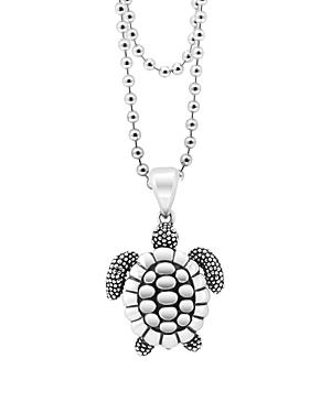Lagos Rare Wonders Sea Turtle Pendant Necklace, 34