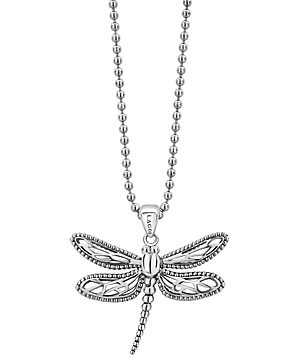 Lagos Sterling Silver Rare Wonders Dragonfly Pendant Necklace, 34