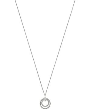 Marco Bicego 18K White Gold Bi49 Diamond Double-Circle Pendant Necklace, 17 - 100% Exclusive