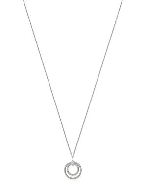 Marco Bicego 18K White Gold Bi49 Diamond Double-Circle Pendant Necklace, 17 - 100% Exclusive
