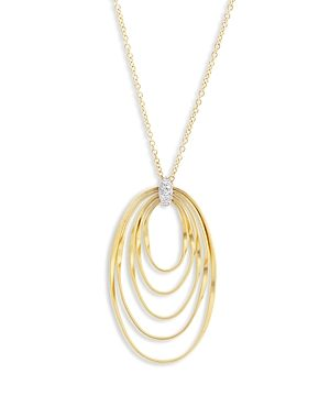 Marco Bicego 18K Yellow Gold Onde Diamond Long Pendant Necklace, 31.5