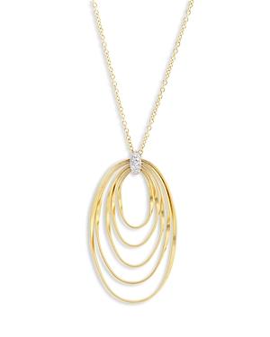 Marco Bicego 18K Yellow Gold Onde Diamond Long Pendant Necklace, 31.5