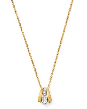Marco Bicego 18K Yellow & White Gold Lucia Diamond Pendant Necklace, 16.5