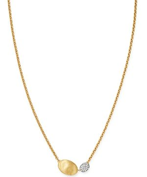 Marco Bicego 18K Yellow & White Gold Siviglia Diamond Pendant Necklace, 16