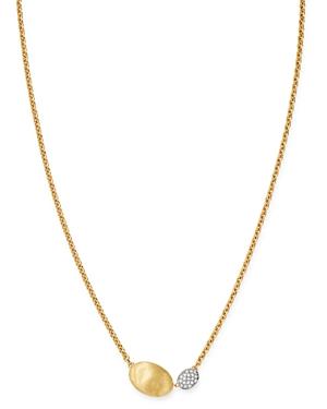 Marco Bicego 18K Yellow & White Gold Siviglia Diamond Pendant Necklace, 16