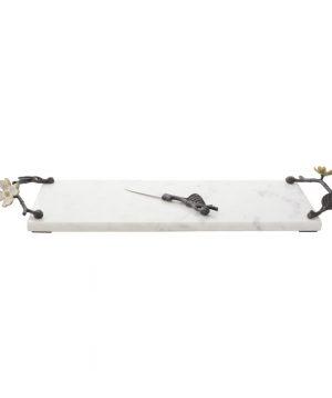 Michael Aram - Dogwood Marble Cheese Board & Knife