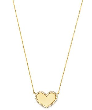 Moon & Meadow 14K Yellow Gold Diamond Heart Pendant Necklace - 100% Exclusive