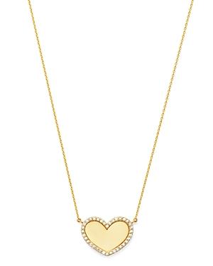 Moon & Meadow 14K Yellow Gold Diamond Heart Pendant Necklace - 100% Exclusive