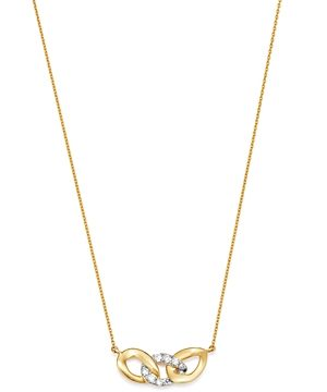 Moon & Meadow 14K Yellow Gold Interlocking Link Pendant Necklace, 15-17 - 100% Exclusive