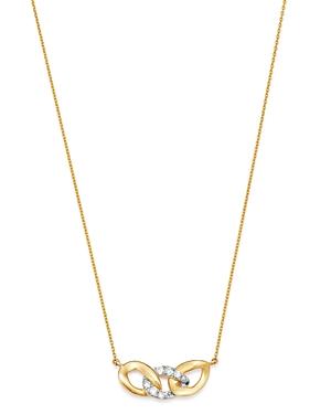 Moon & Meadow 14K Yellow Gold Interlocking Link Pendant Necklace, 15-17 - 100% Exclusive