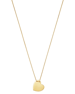 Moon & Meadow Heart Pendant Necklace in 14K Yellow Gold, 18 - Exclusive