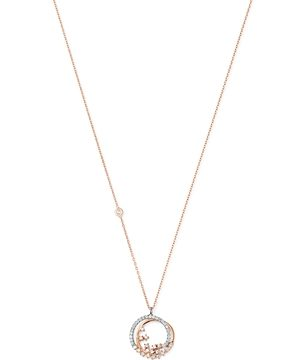 Own Your Story 14K Rose Gold Cosmos Diamond Galaxy Pendant Necklace, 18