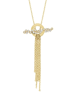 Own Your Story 14K Yellow Gold Nature Diamond Waterfall Pendant Necklace