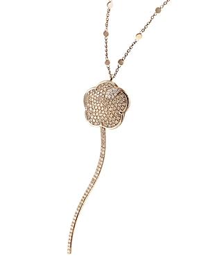Pasquale Bruni 18K Rose Gold Joli White & Champagne Diamond Pendant Necklace, 35