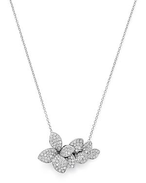 Pasquale Bruni 18K White Gold Stelle in Fiore Diamond Pendant Necklace, 16.5