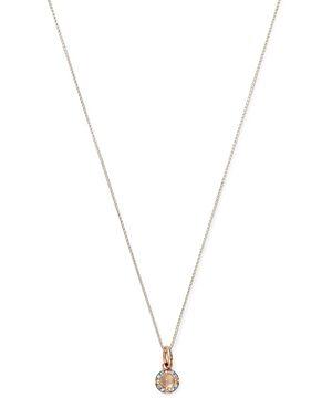 Pomellato 18K Rose Gold M'ama non M'ama Moonstone & Diamond Pendant Necklace, 17.3