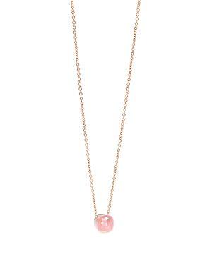 Pomellato 18K White Gold & 18K Rose Gold Nudo Rose Quartz Chalcedony Pendant Necklace, 16.5