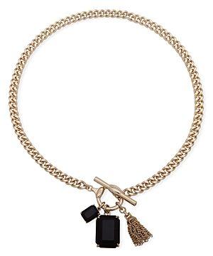 Ralph Lauren Stone Charm Pendant Necklace, 17