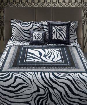 Roberto Cavalli - Frame Zebrage Bed Set - Blue - King