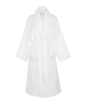 Roberto Cavalli - Gold Shawl Bathrobe - White - L/XL