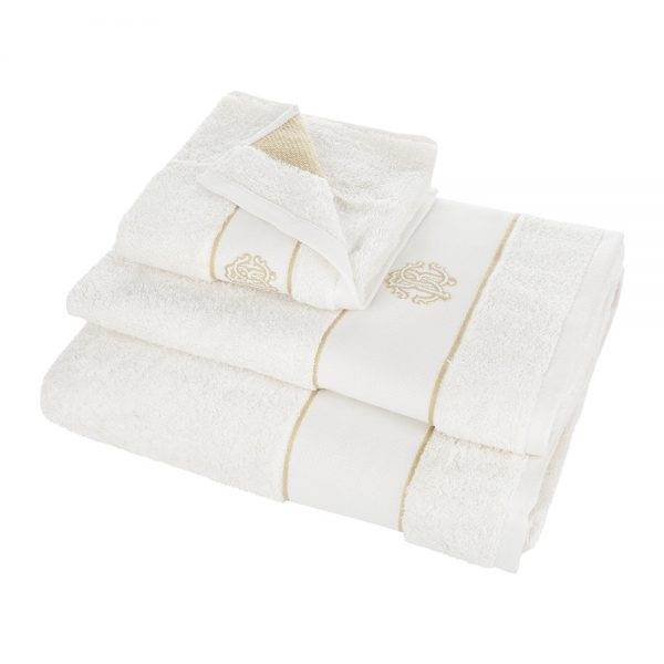 Roberto Cavalli - Gold Towel - Ivory - Bath Sheet