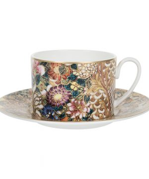 Roberto Cavalli - Golden Flowers Teacup & Saucer