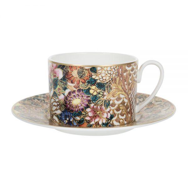 Roberto Cavalli - Golden Flowers Teacup & Saucer