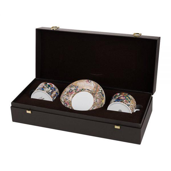Roberto Cavalli - Golden Flowers Teacup & Saucer - Set of 2 - Luxury Gift Box