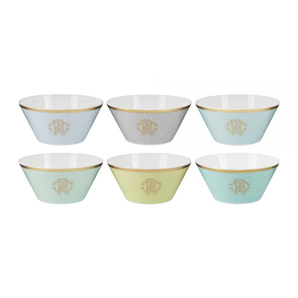 Roberto Cavalli - Lizzard Bowls - Set of 6 - Sunrise
