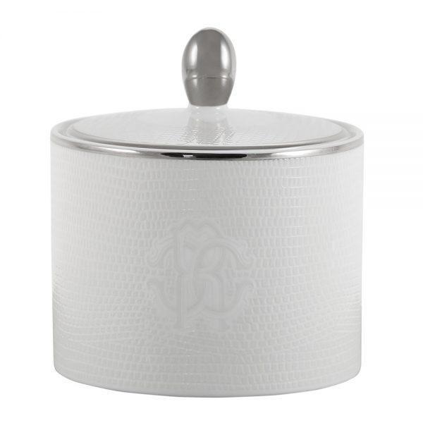 Roberto Cavalli - Lizzard Sugar Pot - Platinum