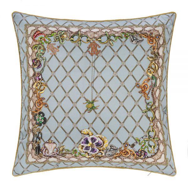 Roberto Cavalli - New Spider Silk Cushion - Light Blue - 40x40cm