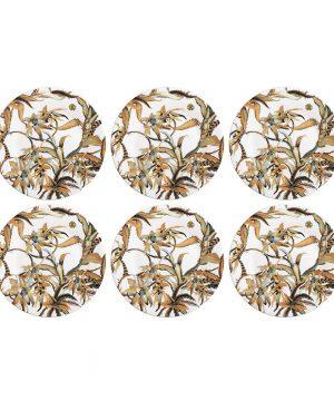Roberto Cavalli - Tropical Flower Dessert Plate - Set of 6