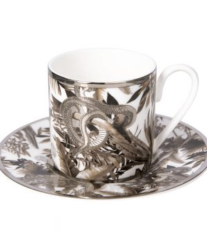 Roberto Cavalli - Tropical Jungle Espresso Cup & Saucer - White